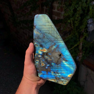 Labradorite with Unique Line Pattern