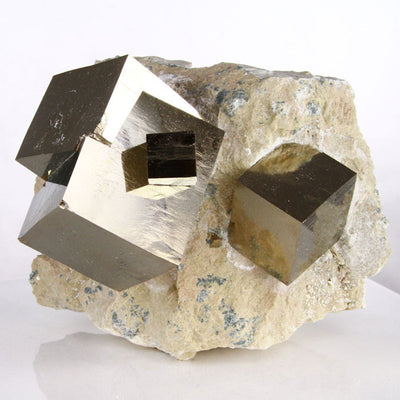 Pyrite Cubes on Matrix Spain