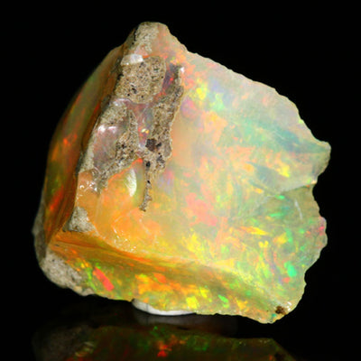 Ethiopian Fire Opal Rough Crystal