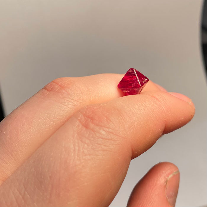 Pinkish Red Spinel Crystal Octahedron