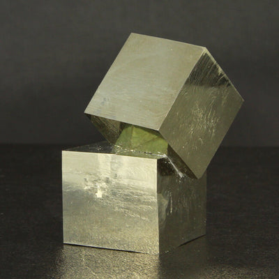 Pyrite Crystal Cubes from the Mina Victoria in Spain