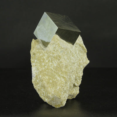 Pyrite Crystal Cube on Matrix from Spain