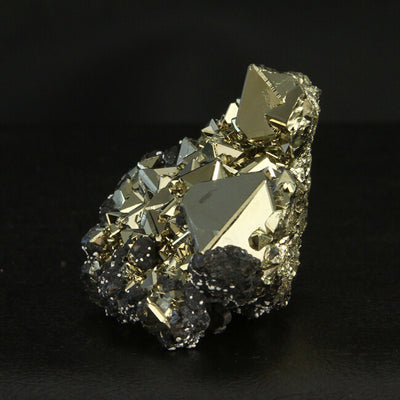 Pyrite Octahedron Crystals and Sphalerite from Peru