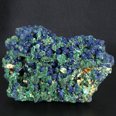raw Azurite crystals with Malachite