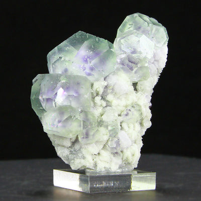 Whimsical Fluorite with Purple Phantoms