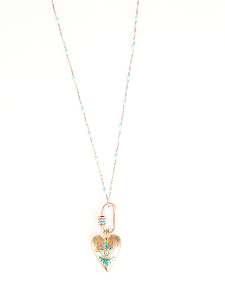 Evileye Heart Dainty Necklace