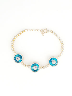 Murano Glass Paved CZ Bracelet