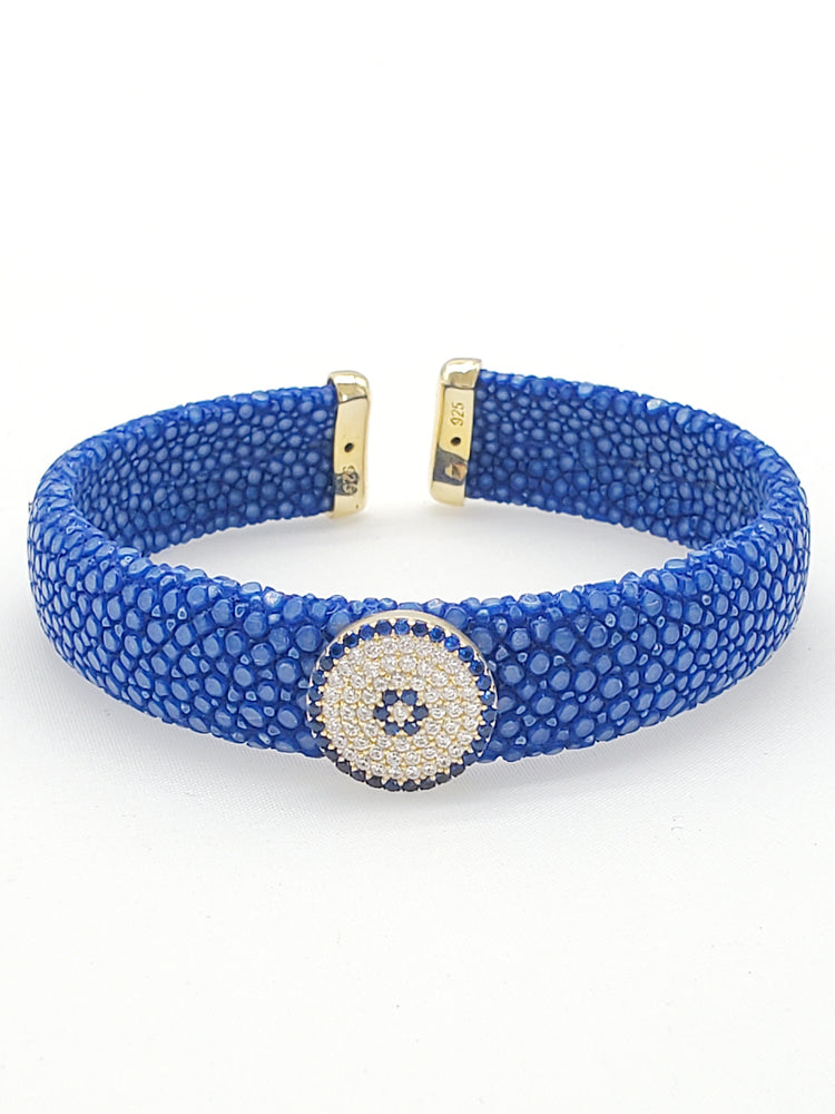 Royal Blue Evileye Stingray Bracelet