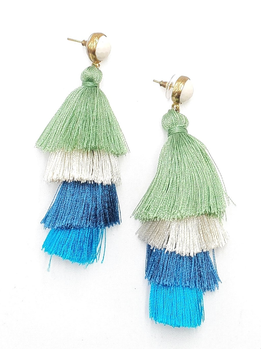 4 Drop Tassel Earrings