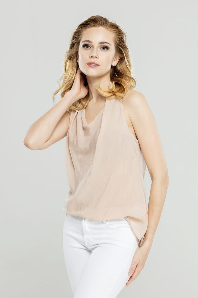 Load image into Gallery viewer, Beige Halter Neck Top