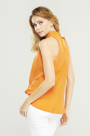 Orange Halter Neck Top