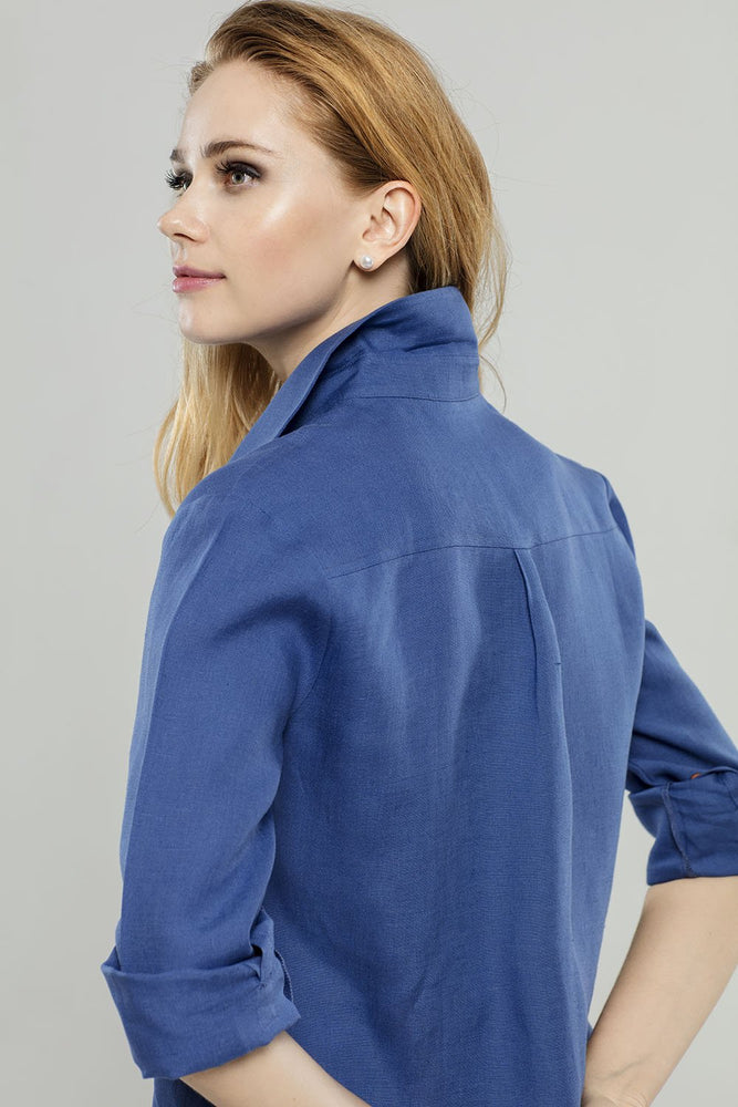 Load image into Gallery viewer, Royal Blue Linen  Tunic