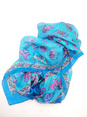 Blue & Purple Silk Scarf