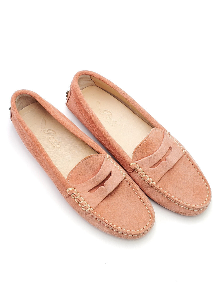 Coral Suede Loafers