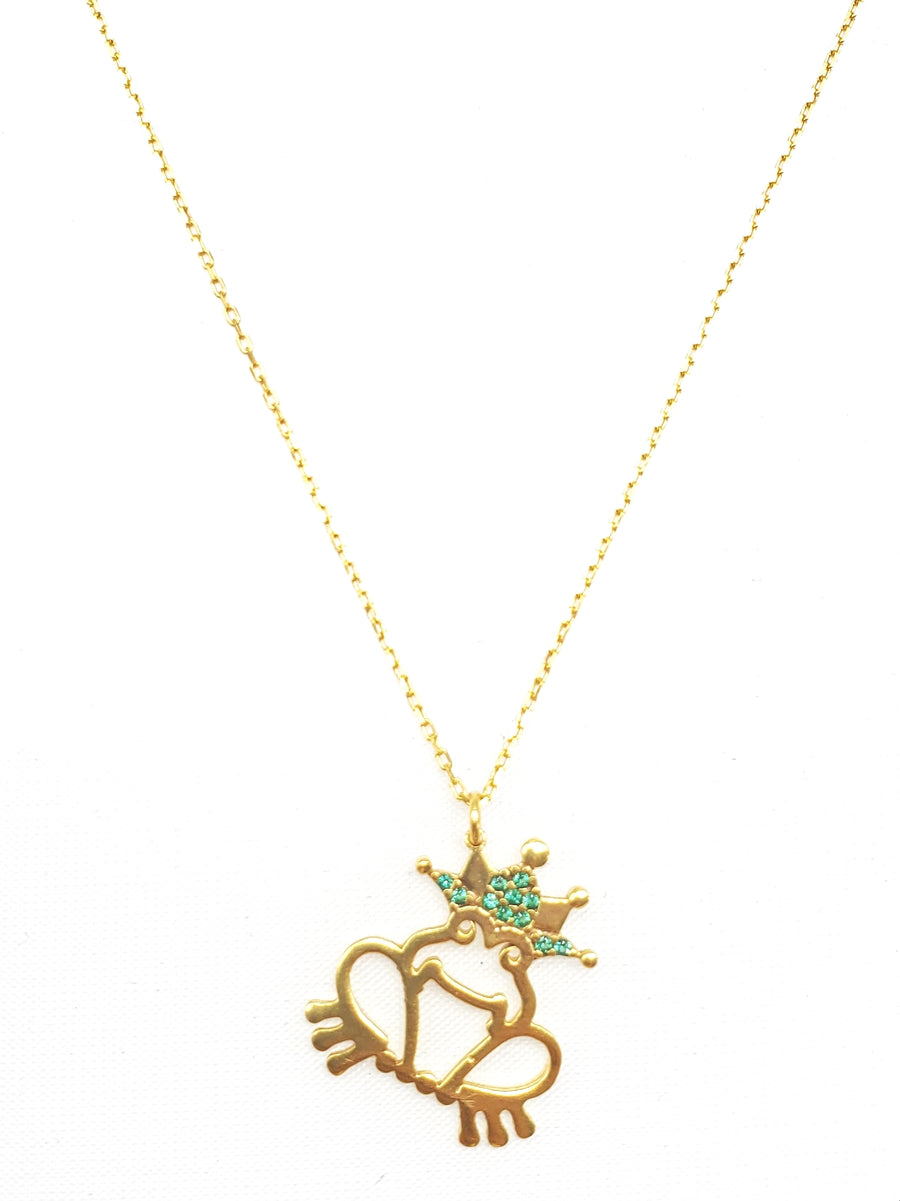 Frog w/ Crown Necklace