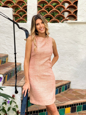 Load image into Gallery viewer, Pink Silk/Linen Dress