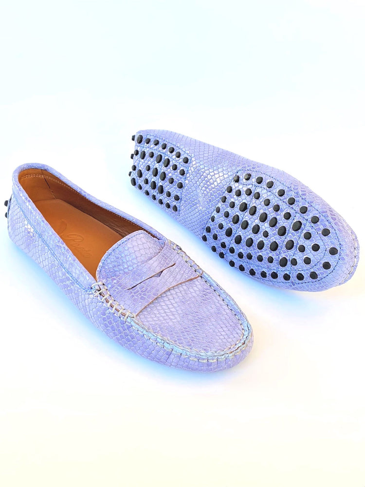 Lavender Leather Loafers
