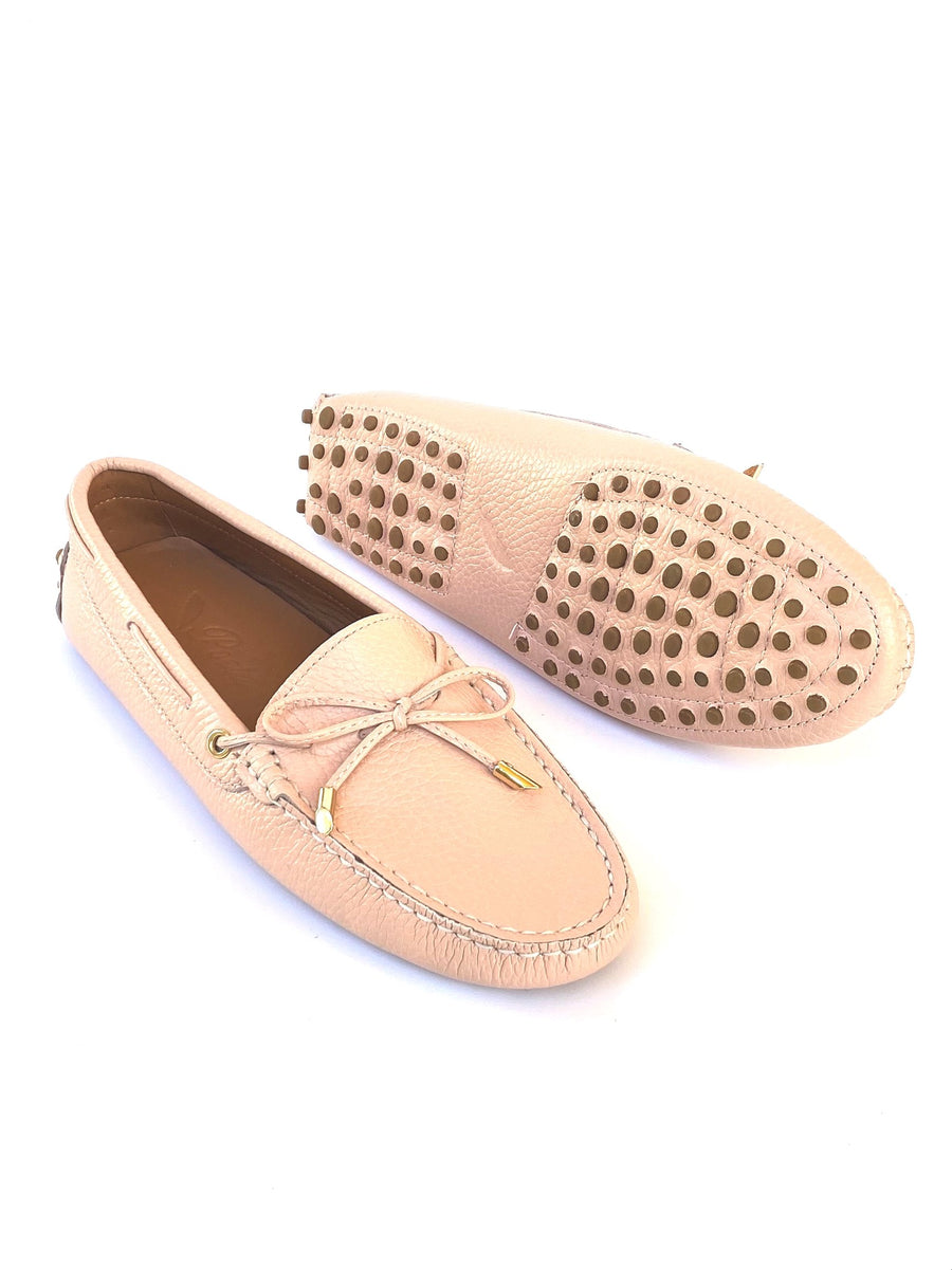 Pale Pink Leather Loafer