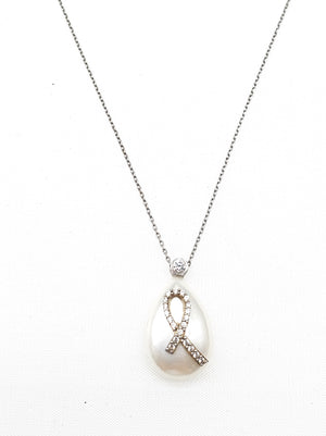 Breast Cancer Society Pearl Necklace