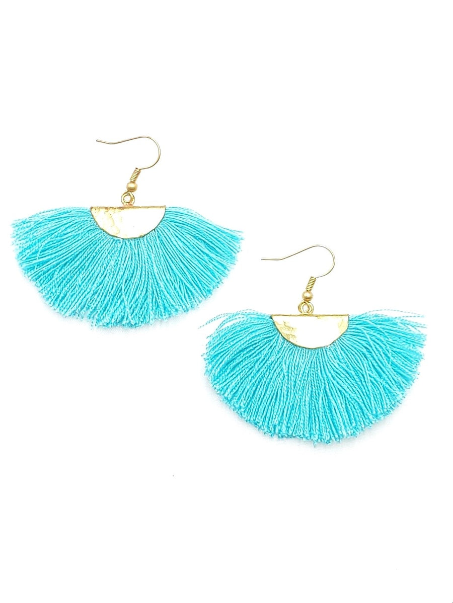 Turquoise Mini Fringe Earrings
