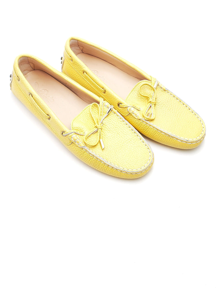 Yellow Leather Loafers