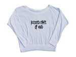 Blessed state of mind lightweight sweater for women in white
