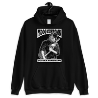 T Dog Greaser Hoodie (Black and White Artwork)