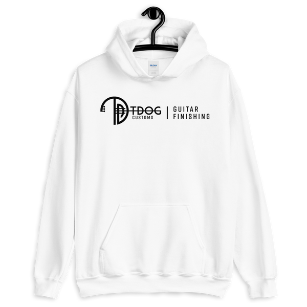 T Dog Guitar Finishing Hoodie (Black Logo)