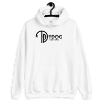 T Dog Customs logo Hoodie (Black Logo)