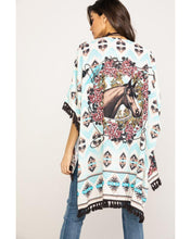 Load image into Gallery viewer, Tasha Polizzi derby duster kimono horse floral pattern lightweight cover