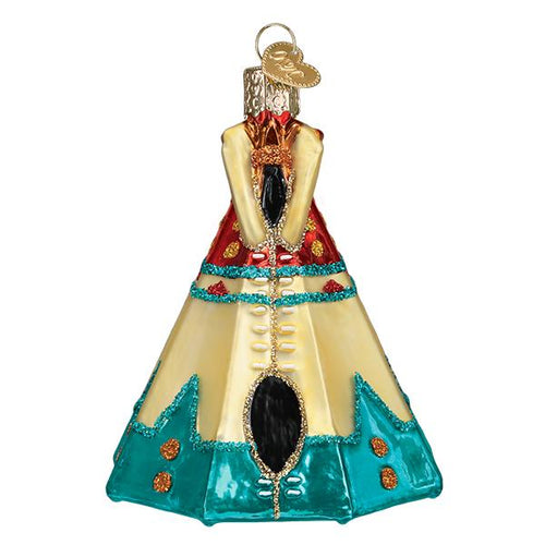 Old World Christmas ornaments teepee native american dwelling travel glitter western heritage tree glass