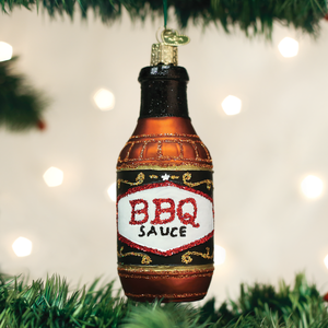 barbeque sauce ornament BBQ glass glitter Old World Christmas Ornaments gift saucy