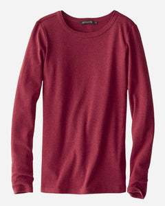 Pendleton Cotton Rib Long Sleeve Shirt, Red Rock Heather