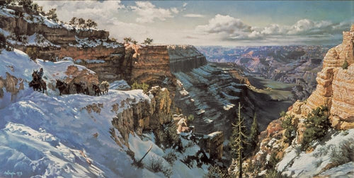 Grand Canyon Kaibab trail Clark Hulings print artwork unsigned rare collectors piece