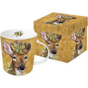 deer mug woodland princess flower crown coffee tea hot chocolate