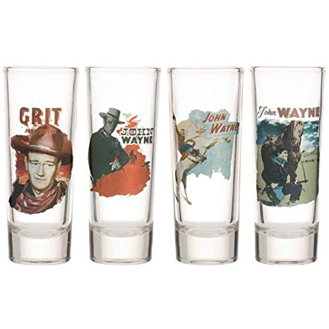 John wayne shot glass set shooter movie posters glass true grit the duke