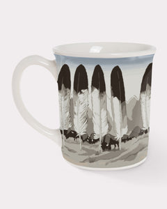 Pendleton mug legendary in their element native american legends traditions feathers coffee tea warm beverage large