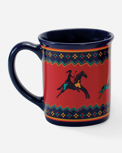 Pendleton woolen mills ceramic coffee tea hot beverage mug cup Celebrate the Horse legendary Native American history