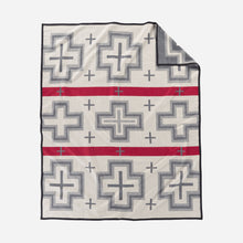 Load image into Gallery viewer, San Miguel robe blanket throw Pendleton Woolen MIlls home gift saint michael wool cotton western American made cream gray