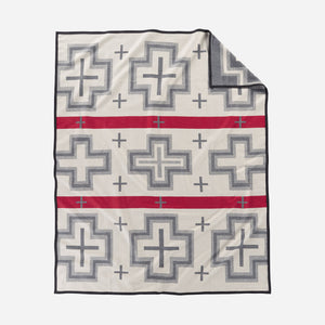 San Miguel robe blanket throw Pendleton Woolen MIlls home gift saint michael wool cotton western American made cream gray