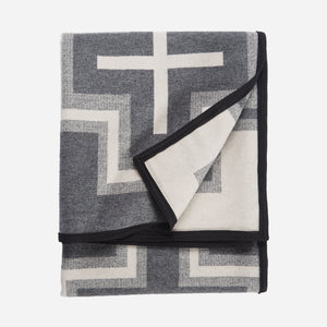 San Miguel robe blanket throw Pendleton Woolen MIlls home gift saint michael wool cotton western American made cream grey folded