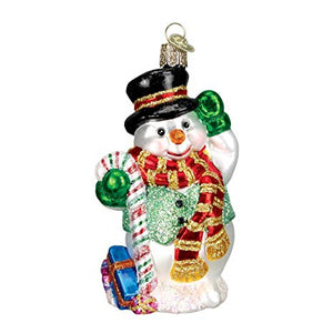 Candy Cane Snowman Ornament
