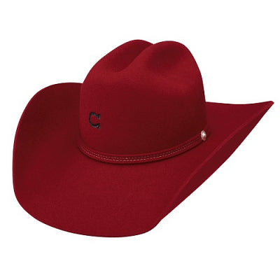 Charlie 1 Horse Dime Store Cowgirl Hat, Red