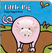 Load image into Gallery viewer, little pig finger puppet book for children to read for interactive learning and fun