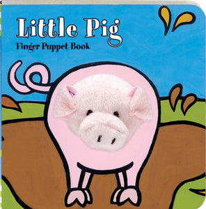 little pig finger puppet book for children to read for interactive learning and fun