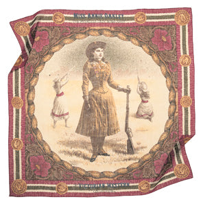 Annie Oakley scarf silky cotton victorian colors jewel bright pink little sharp shooter