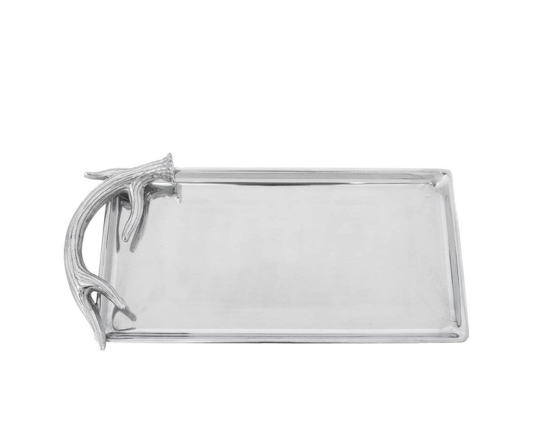 Arthur Court Vagabond House antler serving tray silver platter realistic dining housewarming gift