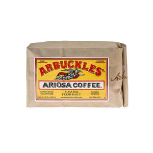 Arbuckles' coffee cowboy coffee trail ride morning beverage hot medium roast ground fresh Tuscon, Arizona 1 pound