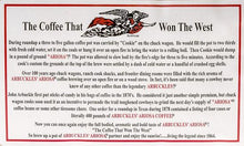 Load image into Gallery viewer, Arbuckles' coffee cowboy coffee trail ride morning beverage hot medium roast ground fresh Tuscon, Arizona 1 pound the coffee that won the west