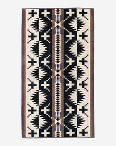 spider rock towel black pendleton woolen mills native american inspired american made cotton pool beach towel spa soft